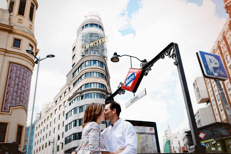 Sesión de fotos de preboda en Madrid de Marta y Sera